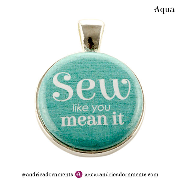 Aqua on Silver - Andrie Adornments