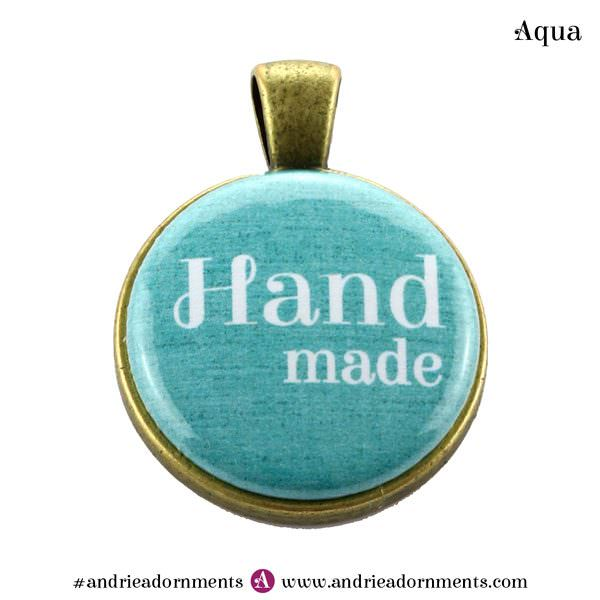 Aqua on Antique Brass - Andrie Adornments