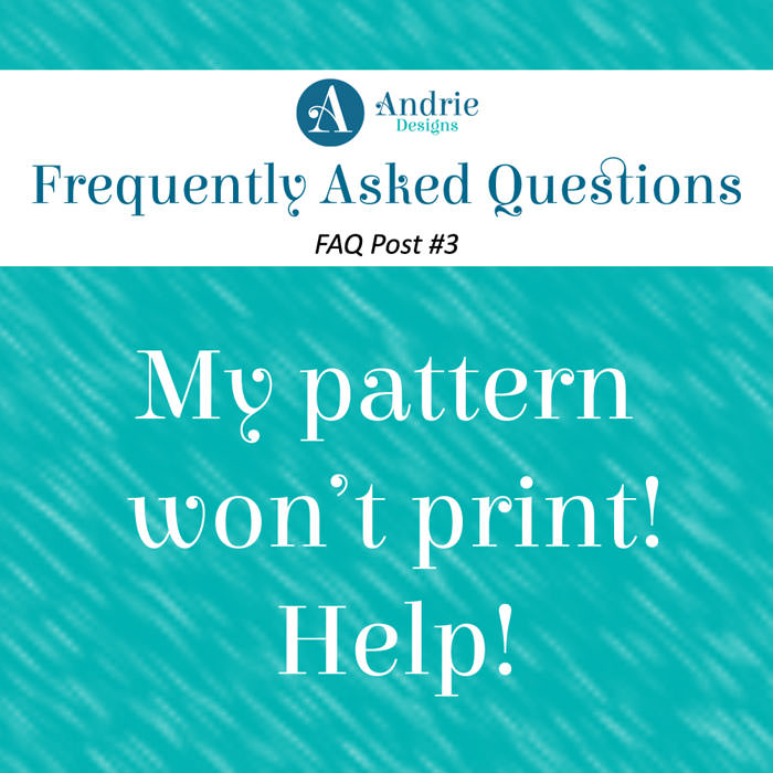 Frequently Asked Questions Post #3 - Andrie Designs