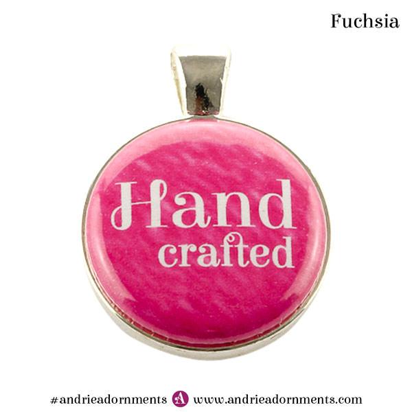 Fuchsia on Silver - Andrie Adornments