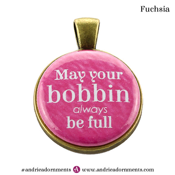 Fuchsia on Antique Brass - Andrie Adornments