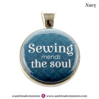 Navy on Silver - Andrie Adornments