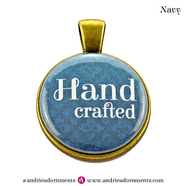 Navy on Antique Brass - Andrie Adornments