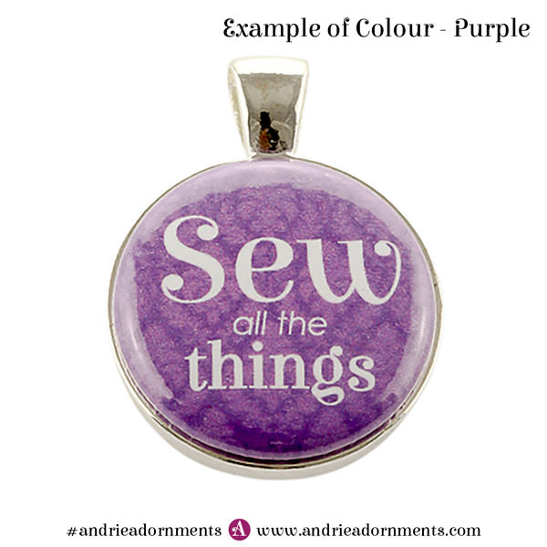 Example of purple colour - Andrie Adornments