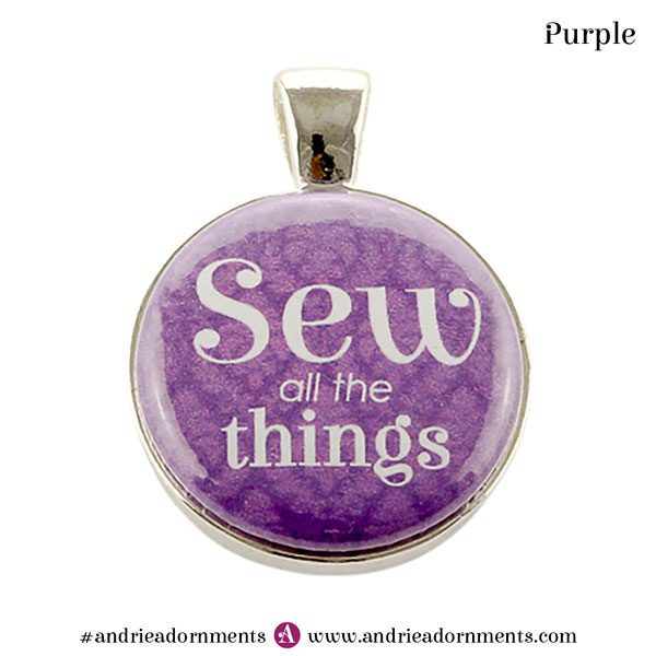 Purple on Silver - Andrie Adornments