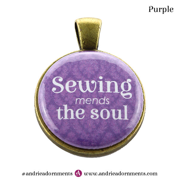 Purple on Antique Brass - Andrie Adornments