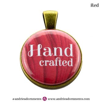 Red on Antique Brass - Andrie Adornments