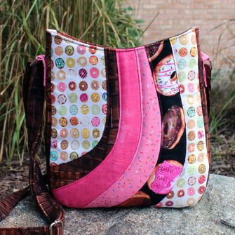 It's a candy-themed Shades of Yesterday Tote Bag - Andrie Designs