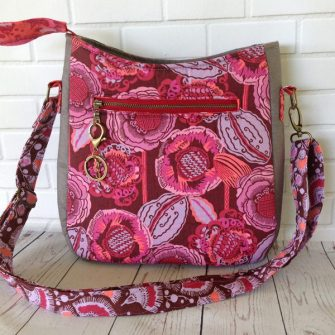 Love the metal zipper on the back of this Shades of Yesterday Tote Bag - Andrie Designs
