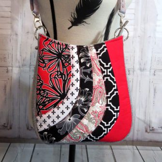 Another classic black, white and red Shades of Yesterday Tote Bag - Andrie Designs