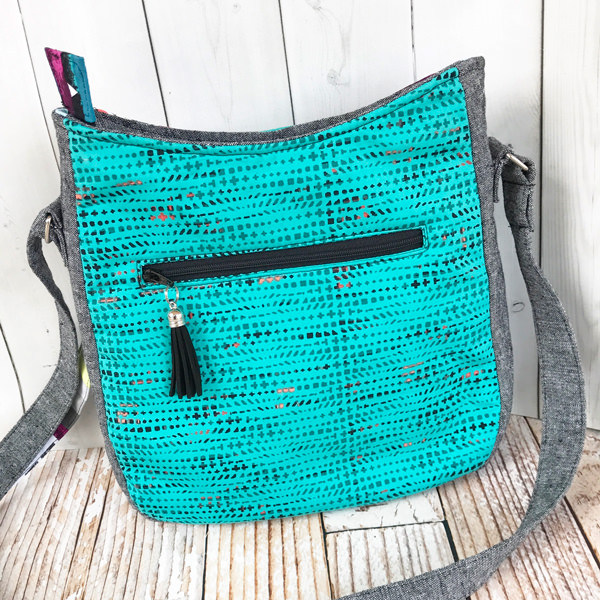 Love the pop of colour on the back of this Shades of Yesterday Tote Bag - Andrie Designs