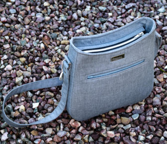 Simple yet effective back panel of a Shades of Yesterday Tote Bag - Andrie Designs