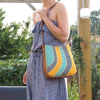 The Shades of Yesterday Tote Bag is a great size! - Andrie Designs