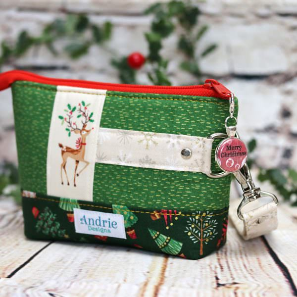 Classic Clutch and gorgeous Christmas is Red zipper pull