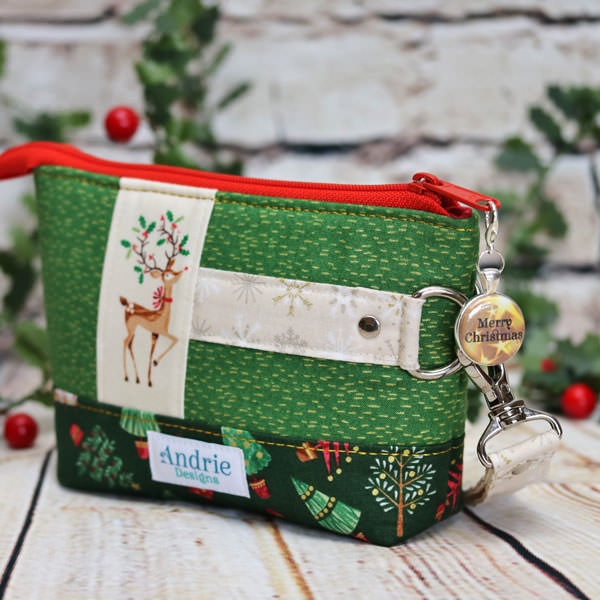 Classic Clutch and gorgeous Christmas is Gold zipper pull
