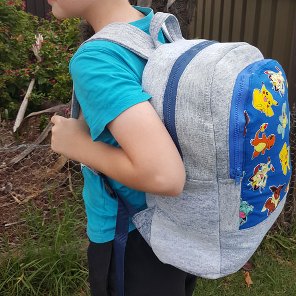 Fun Pokemon version of the Adventure Time Backpack - Andrie Designs