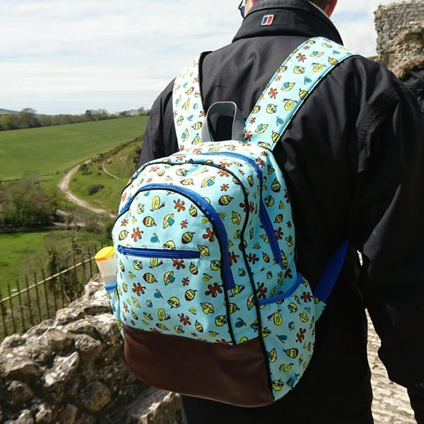 When nature and blue tones meet... Adventure Time Backpack - Andrie Designs
