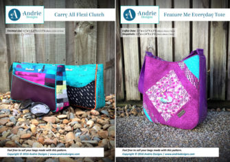 Carry All Flexi Clutch & Feature Me Everyday Tote Pattern Set - Andrie Designs