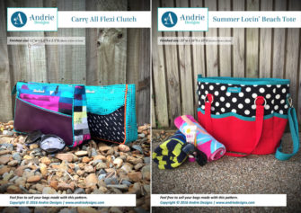 Carry All Flexi Clutch & Summer Lovin' Beach Tote Pattern Set - Andrie Designs