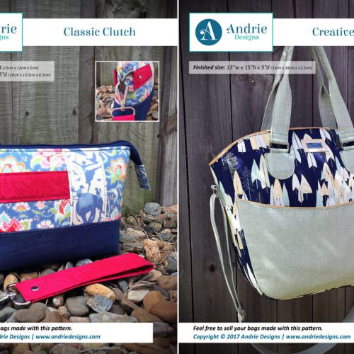 Classic Clutch & Creative's Tote Pattern Set - Andrie Designs