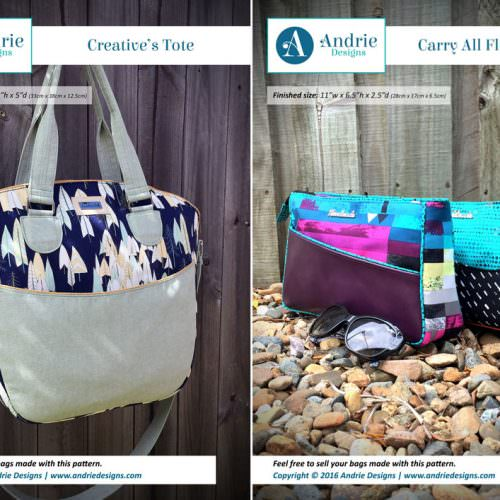 Creative's Tote & Carry All Flexi Clutch Pattern Set - Andrie Designs