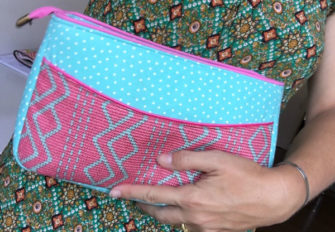 Such a great size to hold! Carry All Flexi Clutch - Andrie Designs