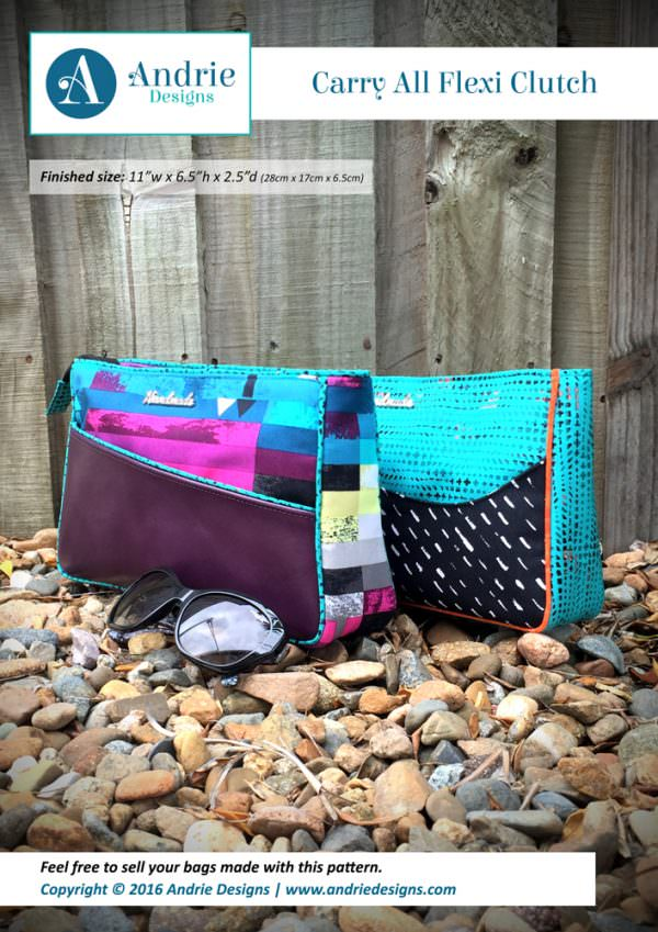 Carry All Flexi Clutch - Andrie Designs