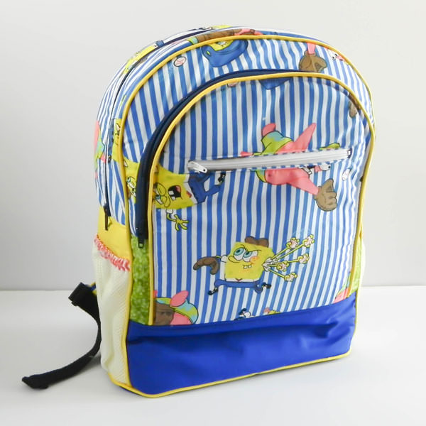 Love this Sponge Bob version of the Adventure Time Backpack - Andrie Designs