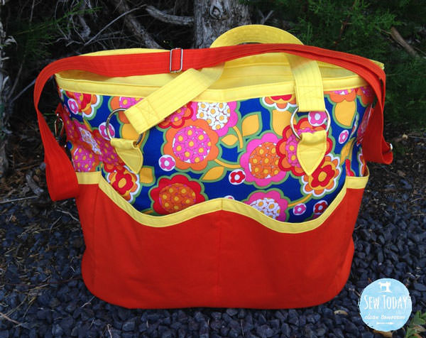 Colourful floral Summer Lovin' Beach Tote - Andrie Designs