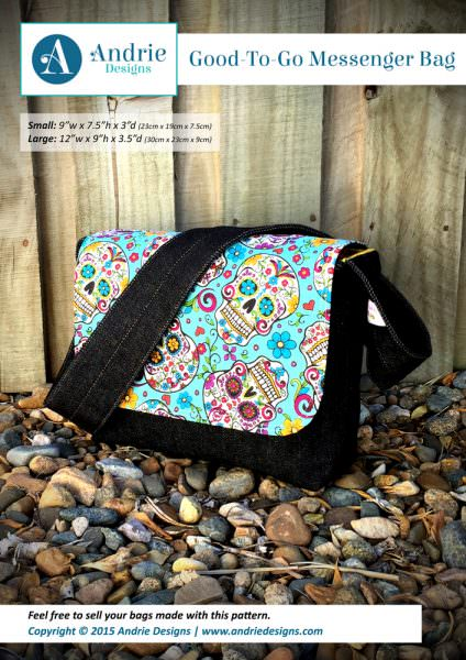 Good-To-Go Messenger Bag - Andrie Designs