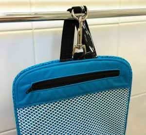 Hang over a towel rail! Hang About Toiletry Bag - Andrie Designs