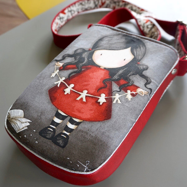 Love the feature of this Gorjuss Girl on the back of the Mini Shades Pouch - Andrie Designs