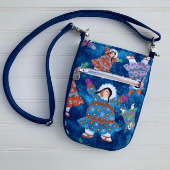Back view of the Alaskan-themed Mini Shades Pouch - Andrie Designs