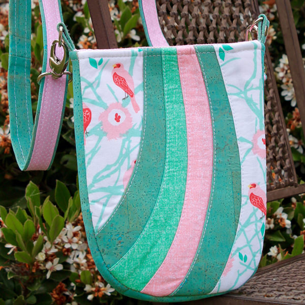 Darling pink and green Mini Shades Pouch - Andrie Designs