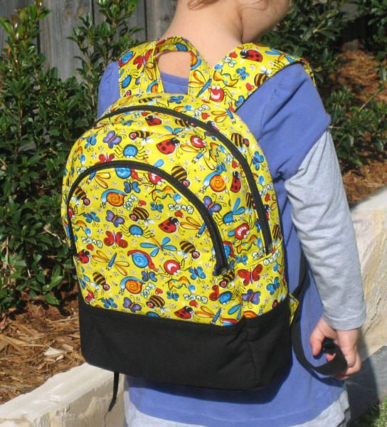 How bright and sunny is this Adventure Time Backpack?! - Andrie Designs