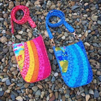 'Warm' and 'Cool' Alison Glass Diving Board Mini Shades Pouches - Andrie Designs