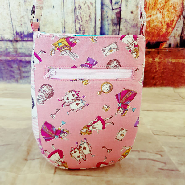 Back of the Alice in Wonderland Mini Shades Pouch - Andrie Designs