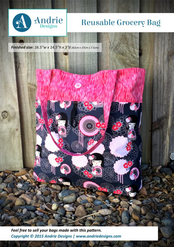 Reusable Grocery Bag - Andrie Designs