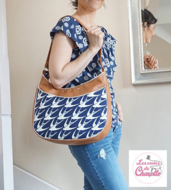 The perfect shape to wear on your shoulder! Roll With It Tote - Andrie Designs