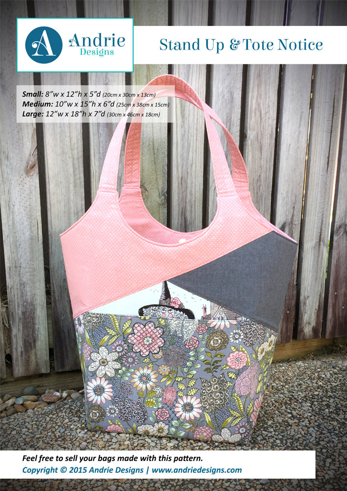 Stand Up & Tote Notice - Andrie Designs