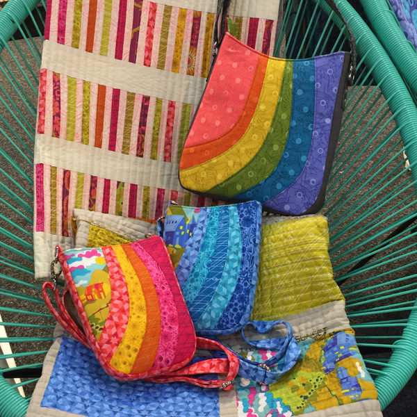 Trio of Shades of Yesterday totes at AQM 2017 - Andrie Designs