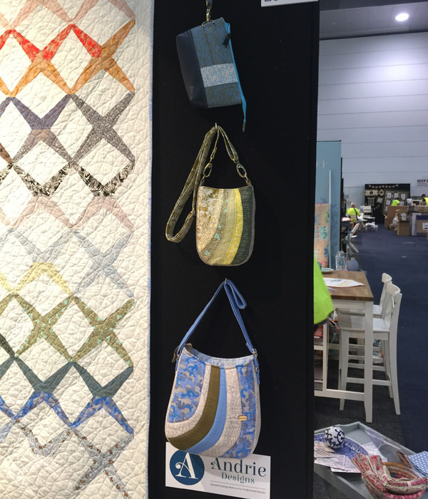 Trio of bags at AQM 2017 - Andrie Designs