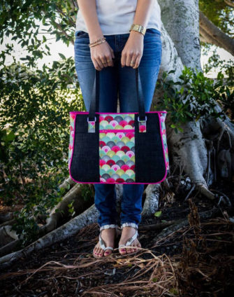 Curvy Tula Pink Goin' Uptown Tote - Andrie Designs