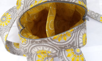 Inside the classic yellow and grey Little Freehand Pack - Andrie Designs