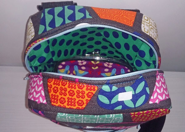 Inside the bag-themed Little Freehand Pack - Andrie Designs