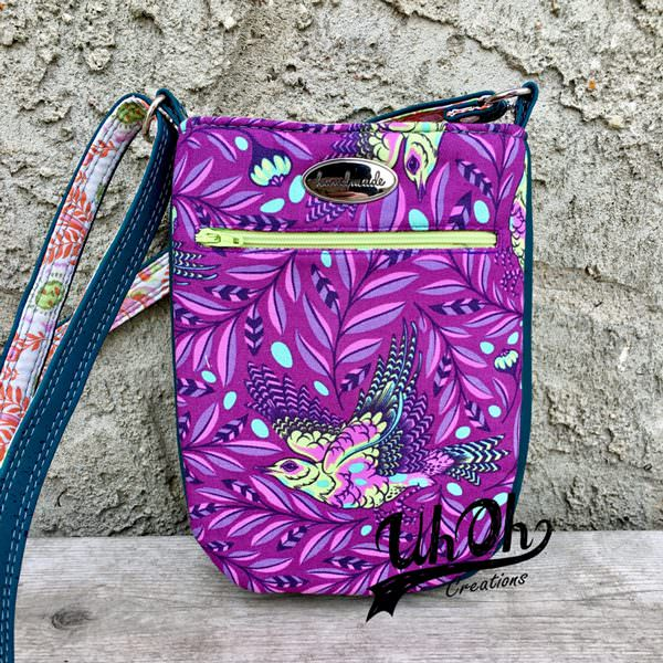 Back of the Tula Pink Spirit Animal Mini Shades Pouch - Andrie Designs