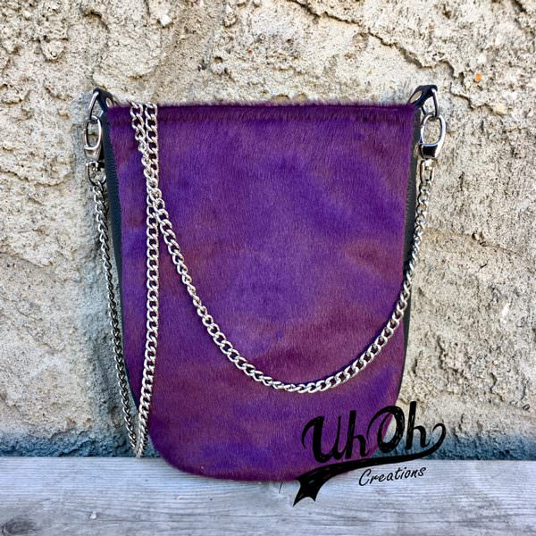 Check out this purple leather plain front Mini Shades Pouch - Andrie Designs