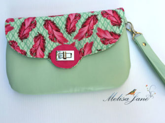 Mint & plume Tula Pink-themed The Statement Clutch - Andrie Designs
