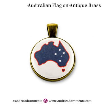 Antique Brass Australian Flag - Australia Day 2018 - Andrie Adornments