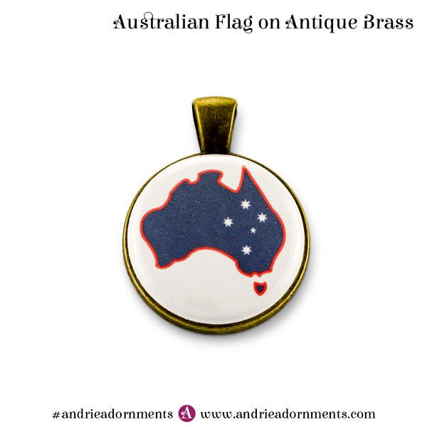 Antique Brass Australian Flag - Australia Day 2018 - Andrie Adornments